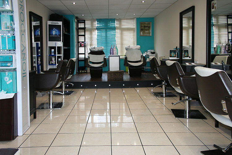 Inside Trevor Stuarts hairdressing salon in Streetly